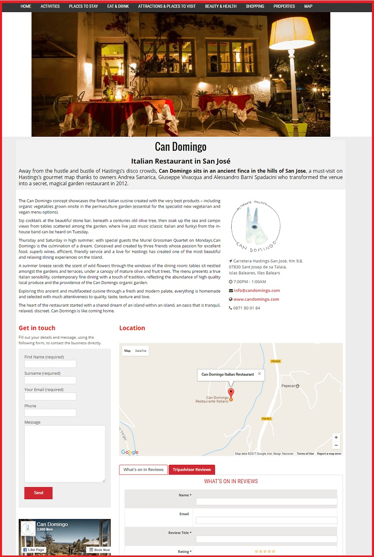 Sales Page Example when Advertise with us What's on in Oldham.com